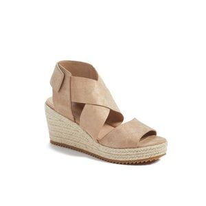 Eileen Fisher // Willow Starry Suede Wedge Sandal🌛